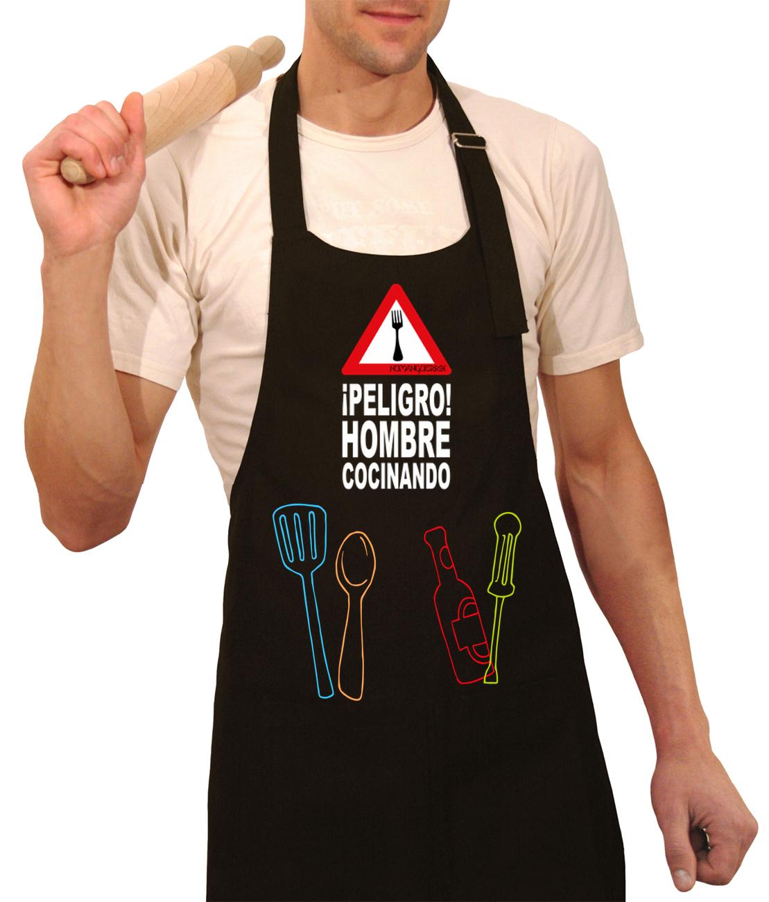 Peligro hombre cocinando