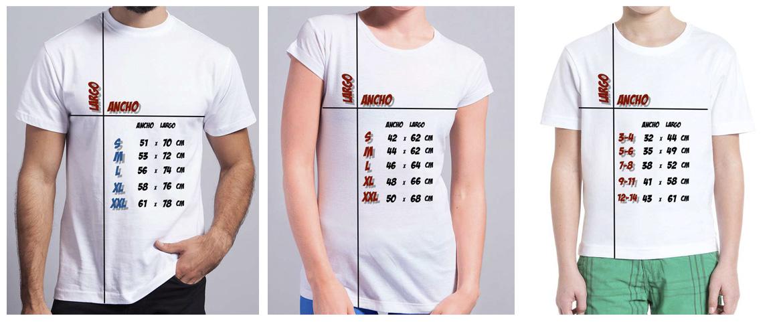 tallas camisetas tienda online