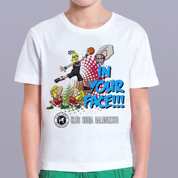 Camiseta Oficial Club Soria Baloncesto Blanca