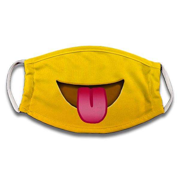 Mascarilla Emoji loquito